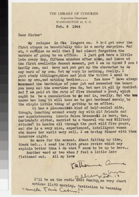 Letter from Katherine Anne Porter to Gay Porter Holloway, February 09, 1944
