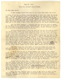 Letter from Katherine Anne Porter to Delafield Day Spier, July 14, 1929