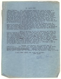 Letter from Katherine Anne Porter to Donald Elder, April 23, 1948