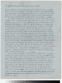 Letter from Katherine Anne Porter to Gay Porter Holloway, April 16, 1955