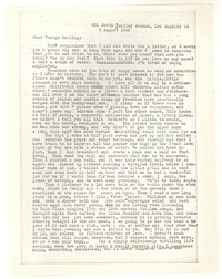 Letter from Katherine Anne Porter to George Platt Lynes, August 07, 1945