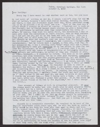 Letter from Katherine Anne Porter to Albert Erskine, October 08, 1940