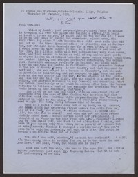 Letter from Katherine Anne Porter to Paul Porter Jr., October 28, 1954