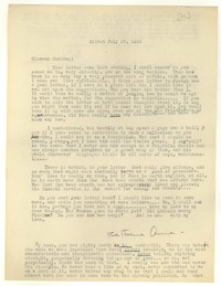 Letter from Katherine Anne Porter to Glenway Wescott, July 27, 1939