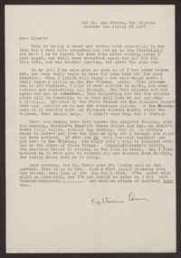 Letter from Katherine Anne Porter to Albert Erskine, October 22, 1937