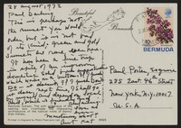 Letter from Katherine Anne Porter to Paul Porter Jr., August 28, 1972