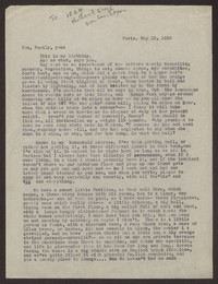 Letter from Katherine Anne Porter to Family, May 15, 1935