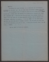 Letter from Katherine Anne Porter to Paul Porter Jr., before March 16, 1946