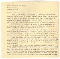 Letter from Katherine Anne Porter to Malcolm Cowley, January 22, 1932