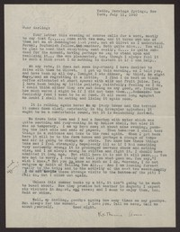 Letter from Katherine Anne Porter to Albert Erskine, July 11, 1940