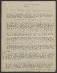 Letter from Katherine Anne Porter to Eugene Pressly, August 23, 1937
