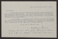Letter from Katherine Anne Porter to Albert Erskine, March 07, 1938
