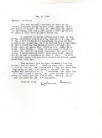 Letter from Katherine Anne Porter to George Platt Lynes, May 06, 1944