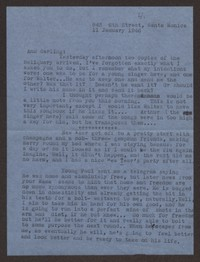 Letter from Katherine Anne Porter to Ann Holloway Heintze, January 11, 1946