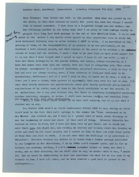 Letter from Katherine Anne Porter to Glenway Wescott, July 07, 1956