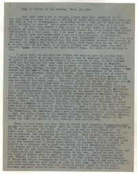 Letter from Katherine Anne Porter to Theodore Roethke, March 10, 1941
