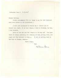 Letter from Katherine Anne Porter to George Platt Lynes, June 03, 1937