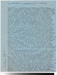 Letter from Katherine Anne Porter to Gay Porter Holloway, July 06, 1965