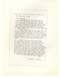Letter from Katherine Anne Porter to George Platt Lynes, January 01, 1943