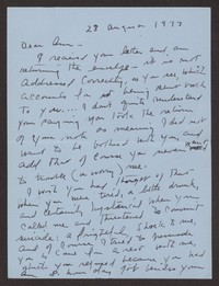 Letter from Katherine Anne Porter to Ann Holloway Heintze, August 28, 1973
