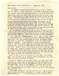 Letter from Katherine Anne Porter to Eleanor Clark, August 22, 1952