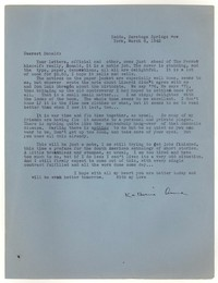 Letter from Katherine Anne Porter to Donald Elder, March 6, 1942