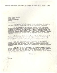 Letter from Katherine Anne Porter to James Stern, March 05, 1963