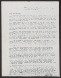 Letter from Katherine Anne Porter to Ann Holloway Heintze, July 08, 1938