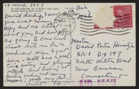 Letter from Katherine Anne Porter to David P. Heintze, March 19, 1957