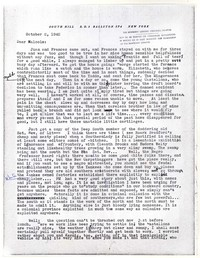 Letter from Katherine Anne Porter to Malcolm Cowley, October 02, 1942