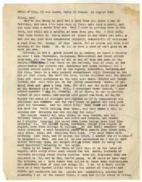 Letter from Katherine Anne Porter to Allen Tate, August 11, 1952
