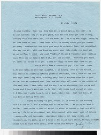 Letter from Katherine Anne Porter to Gay Porter Holloway, July 19, 1967