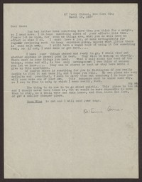 Letter from Katherine Anne Porter to Eugene Pressly, March 18, 1937