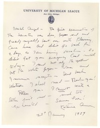 Letter from Katherine Anne Porter to Isabel Bayley, January 23, 1954