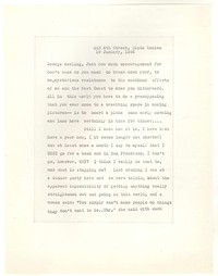 Letter from Katherine Anne Porter to George Platt Lynes, January 19, 1946
