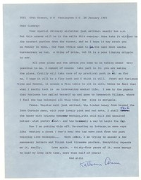 Letter from Katherine Anne Porter to Glenway Wescott, January 28, 1966
