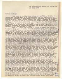 Letter from Katherine Anne Porter to Barbara Harrison Wescott, July 28, 1945