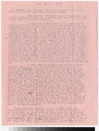 Letter from Katherine Anne Porter to Gay Porter Holloway, April 25, 1949