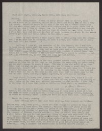 Letter from Katherine Anne Porter to Albert Erskine, March 15, 1938