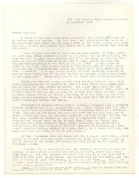 Letter from Katherine Anne Porter to George Platt Lynes, September 26, 1945