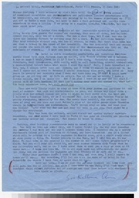 Letter from Katherine Anne Porter to Gay Porter Holloway, June 15, 1963
