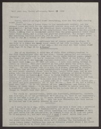Letter from Katherine Anne Porter to Albert Erskine, March 13, 1938