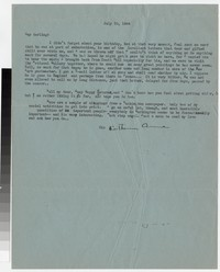 Letter from Katherine Anne Porter to Gay Porter Holloway, July 30, 1944