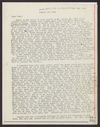 Letter from Katherine Anne Porter to Paul Porter Jr., August 16, 1943