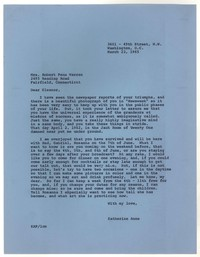 Letter from Katherine Anne Porter to Eleanor Clark Warren, March 23, 1965