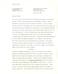 Letter from Katherine Anne Porter to Glenway Wescott, October 20, 1943