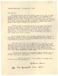 Letter from Katherine Anne Porter to Monroe Wheeler, November 13, 1933