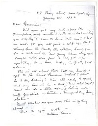 Letter from Katherine Anne Porter to Genevieve Taggard, January 25, 1937