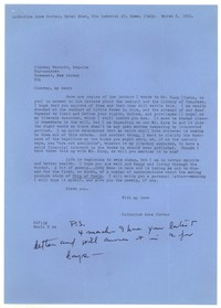 Letter from Katherine Anne Porter to Glenway Wescott, March 02, 1963