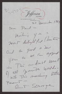 Letter from Katherine Anne Porter to Paul Porter Jr., December 20, 1963